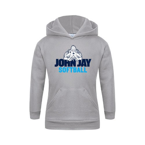 John Jay College Youth Grey Fleece Hood Softball