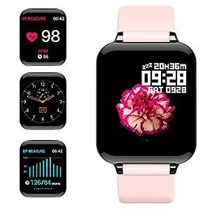 jpantech Smartwatch, 5ATM Impermeable Reloj Inteligente Hombre ...