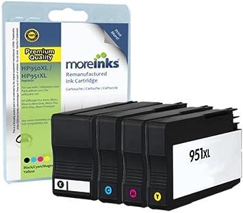 Compatible HP 950XL / 951XL Multipack de cartuchos de tinta de impresora para Officejet 8600 Premium Plus All-in One-8100 e-All-in-One: Amazon.es: Electrónica