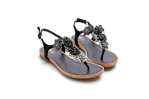 Nana Con Negro Mujer Pretty Correa Zapatos 4wOxBz