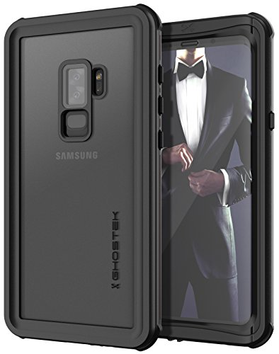 Case Rubberized Protector Black Shield (Ghostek NAUTICAL Full Body Waterproof Case Compatible with Galaxy S9 Plus - Black)
