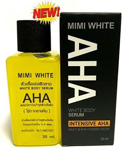 x 4 MINI WHITE Extra Speed Whitening Skin Body Serum AHA Vitamin Brightening Beauty Care Cream For Body, Face, Neck, Bikini, Sensitive Areas & All Skin Types - Dark Spot Corrector 30 ML Within 7 Days