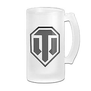 World Of Tanks Logo Grind Beer Glass Mug White