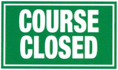 Amazon com : Golf Course Signs COURSE CLOSED : Sports & Outdoors