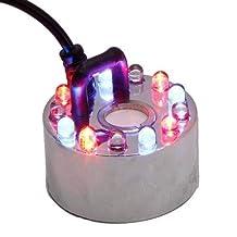 Ultrasonic Mist Maker Fogger Water Fountain Pond 12 LED