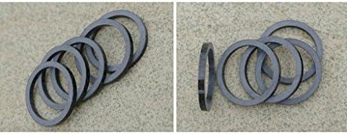 カーボンファイバー 5mm スペーサー 1 1/8インチ ステム バイク 自転車 フォーク ヘッドセット ウォッシャー用