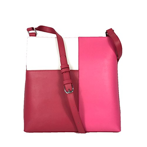Vera Bradley Composition Crossbody Bag, Colorblock Rouge/Off White