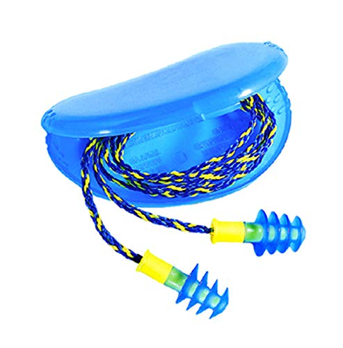 RTS-FUS30-HP Fusion Multiple-Use Earplugs, Regular, 27NRR, Corded, Blue/White - Includes 10 Pairs of earplugs. ()