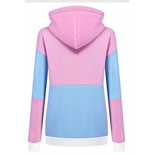 Honey GD Women Classic Splice Long Sleeve Hooded Pullover Sweatshirts