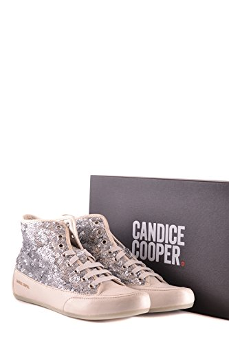 Candice Cooper Hi Top Sneakers Donna MCBI394001O Pelle Argento