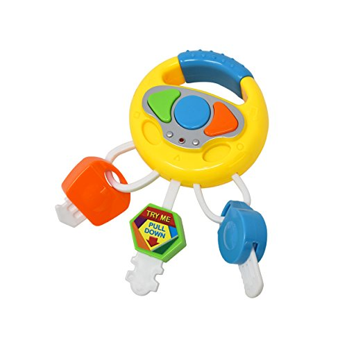Play Keys for Baby - Musical Little Key Chain Smart Remote Key Toy for Infant, Toddler, and Kids