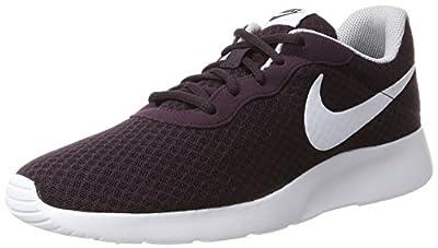 NIKE Mens Tanjun Port Wine/White Wolf Grey Running Shoe 9.5 Men US