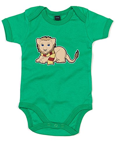 [House Mascot: Lion, Printed Baby Grow - Kelly Green/Transfer 6-12 Months] (Ravenclaw Mascot)