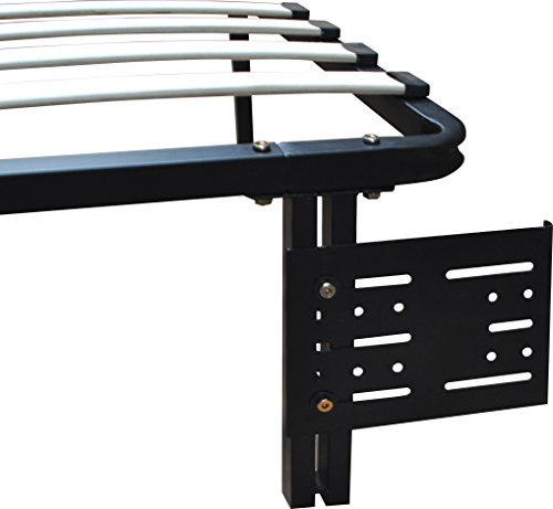 Boyd Sleep Finnish Platform Bed Frame Accessory: Universal Headboard/Footboard Brackets, Black, Set of 2