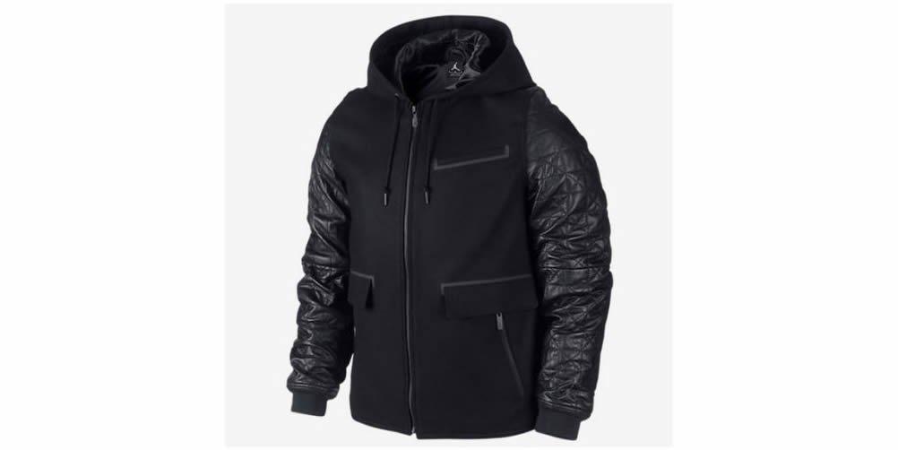 ad6ea808f Amazon.com : [632071-010] AIR Jordan AJ Leather Letterman Jacket Apparel  Apparel AIR JORDANBLACK : Sports & Outdoors