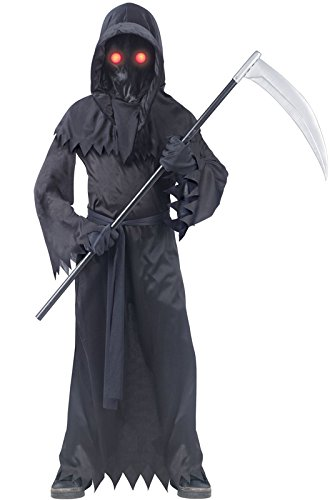Grim Reaper Fade In/Out Unknown Phantom Costume, Child Small (Halloween Costumes Boys Scary)