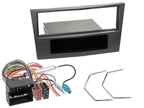 1 Din Radio Einbauset Blende Radioanschlusskabel Antennenadapter fü r Opel Astra H 2004-2010 Metallic EHO RB1EHO325