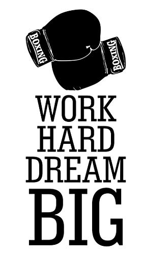 Spb87 Work Hard Dream Big Boxen Gewichte Mma Gesundheit Training Motivation Workout Gym Fitness Sport Herz Life Family Love House Zusammen Zitate