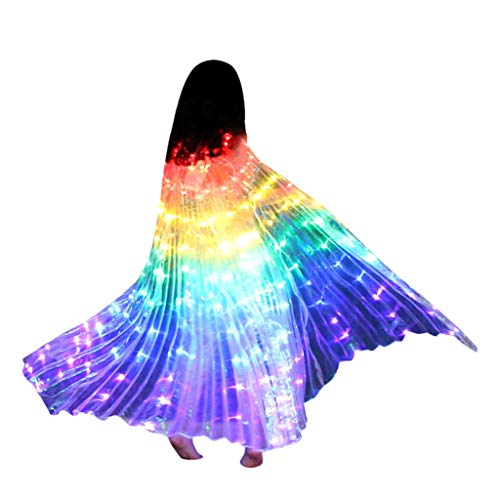 Obteun Performance Clothing LED Angel Isis Wings Colorful Butter Fly Wings with Flexible Sticks (1#, C)]()