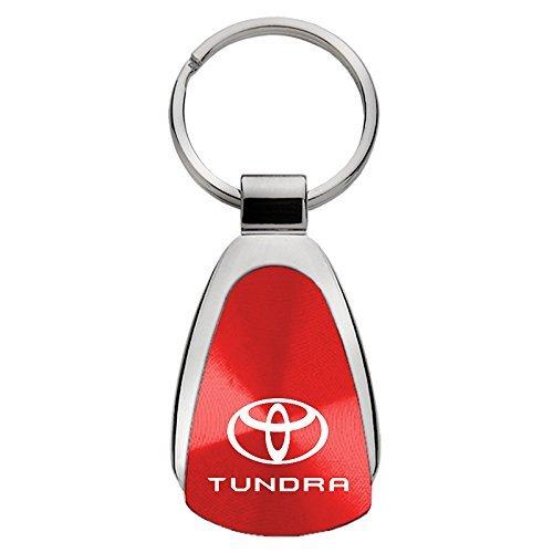 Au-Tomotive Gold, INC. Toyota Tundra Red Teardrop Keychain