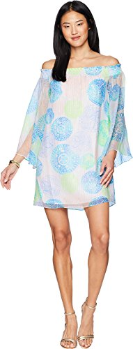 Lilly Pulitzer Women's Abi Silk Dress Resort White Dune Our Thing X-Large (Dress Crinkle Chiffon Silk)