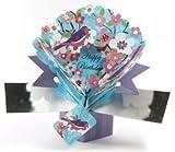 "6½"" Pop ~ Up Card ~ Bird & Flowers Birthday Card"