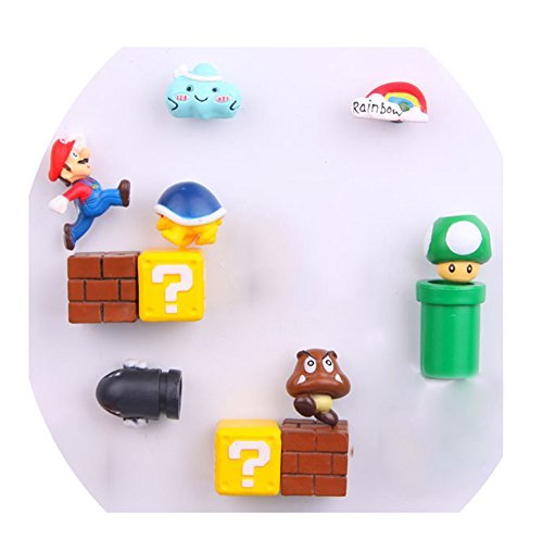 12 Pack Super Mario Fridge Magnets For Kids Decorative Refrigerator Locker Magnets Kitchen School Office Fun Decoration
