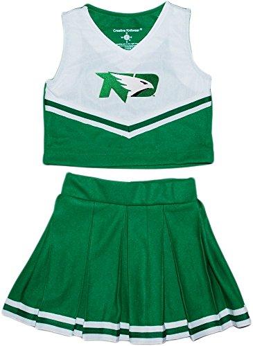Piece Dress Cheerleader 2 (Creative Knitwear University of North Dakota Fighting Hawks NCAA College 2-Piece Cheerleader Dress)