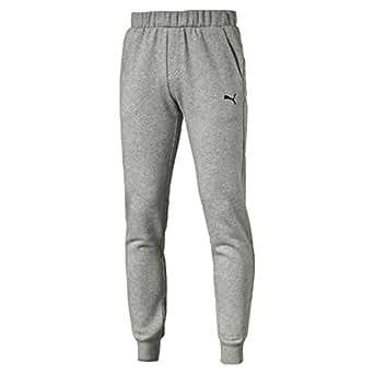 PUMA Men's Ess Sweat Pants Slim, Fl, Cl, Medium Gray Heather,XL