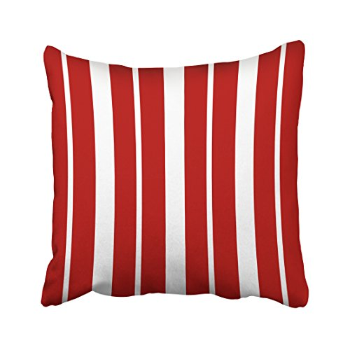 Nantucket Nautical Throw (Accrocn Square Throw Pillow Covers Vintage Nautical Red And White Striped Pillowcases Polyester 18 X 18 Inch With Hidden Zipper Home Sofa Cushion Decorative Pillowcase)