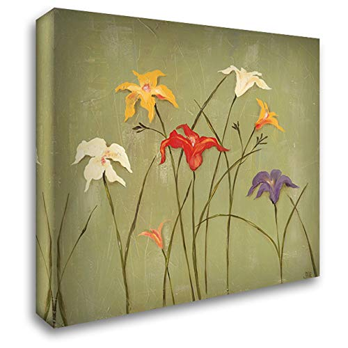 Jeweled Lilies I 28x28 Gallery Wrapped Stretched Canvas Art by Reynolds, Jade