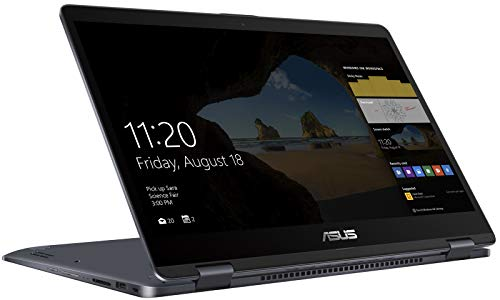"""2018 Premium Asus VivoBook 15.6"""" 2-in-1 Thin and Light FHD Touchscreen Business Laptop/Tablet, Intel Core i7-8550U 16GB DDR4 128GB SSD+1TB HDD 2GB NVIDIA GeForce 940MX 802.11ac HDMI Webcam Win 10"""