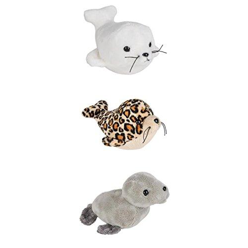 Three (3) Adorable Mini Plush SEALS 5