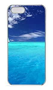 iPhone 5s Cases & Covers - Light Blue Ocean And Sailboat PC Custom Soft Case Cover Protector for iPhone 5s - Transparent