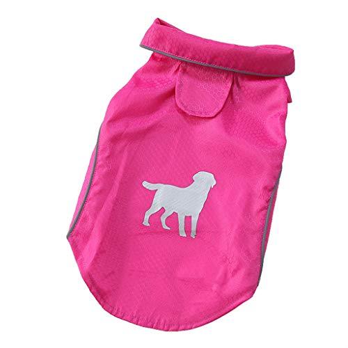 chenqiu Fashion pet Dog Raincoat Puppy, Pet Waterproof Clothes Lightweight Rain Jacket Poncho Hoodies with Strip Reflective