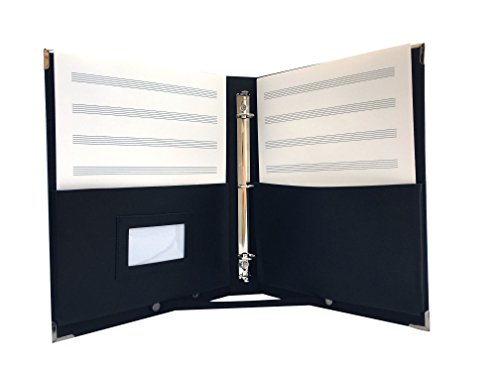 MSP 2 in 1 Large Music Folder/Choir Fillo with Handle, Detachable Strap, 3-rings binder - Leather I-tec