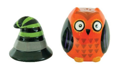 Boston Warehouse All Owl's Eve Witch Salt and Pepper Set