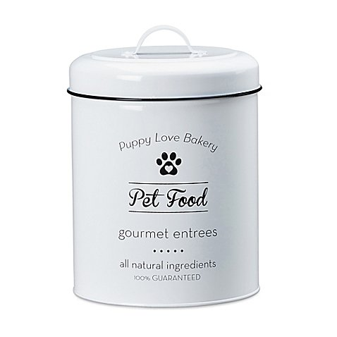 Amici Pet Puppy Love Pet Food Canister | Glass and silicone construction