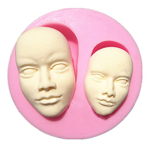 INNI Human Face Silicone Fondant Mold Chocolate Polymer Clay Mould