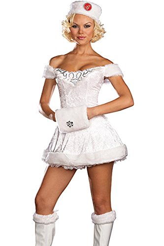 Russian Costumes For Dance - White Russian Beauty Costume - X-Large - Dress Size 14-16