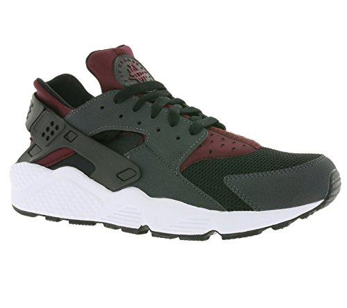 Nike Men Air Huarache Running Shoes Gris (Anthracite/Night Maroon-night Maroon)