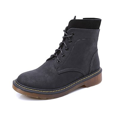 Ch & Tou Femmes-bottines-casual-confortablefashion Leather-noir / Jaune / Gris, Us9.5-10 / Eu41 / Uk7.5-8 / Cn42