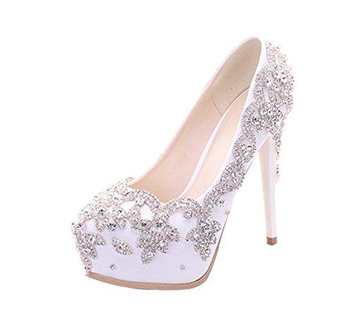 White 14cm Mujer Plataforma Heel Miyoopark AxCwEPRqCc