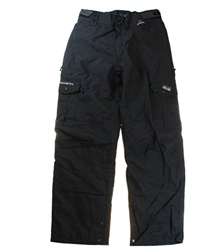 ocean-earth-pro-mens-black-water-resistant-ski-snowboard-snow-pants-x-large
