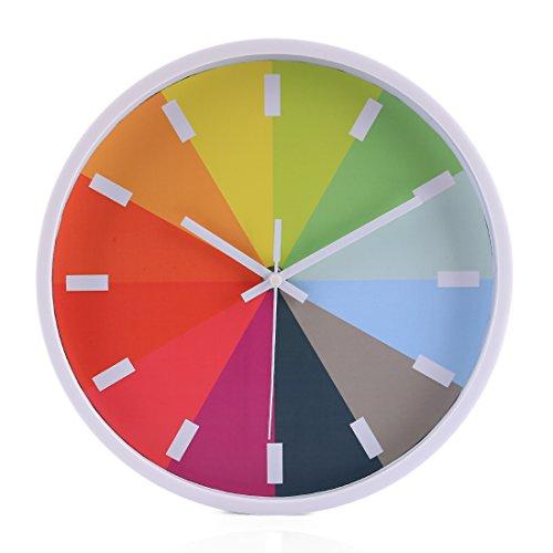 - PeleusTech® Rainbow Silent Wall Clock 10