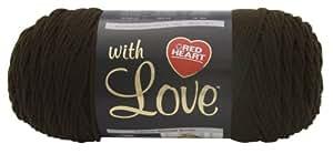 Red Heart with Love  Yarn, Chocolate