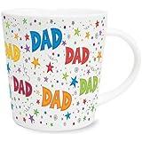 dad Bright Multi Coloured Novelty Sentimental Mug With Presentation Box