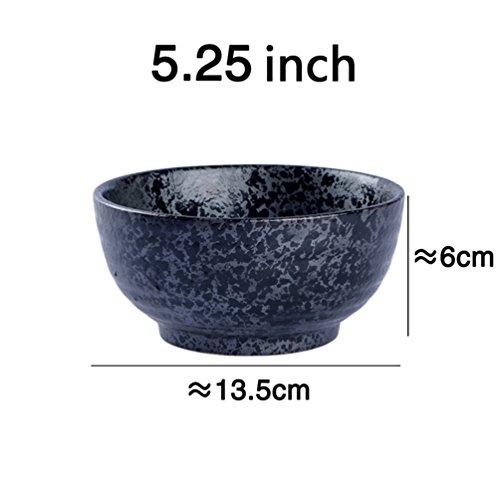 Price comparison product image LXY Creative Retro Japanese Cuisine Ceramic Tableware Ramen Bowl Large Soup Bowl Home Large Bowl Ramen Bowl Salad Bowl Bowl (Size : 13.56CM)