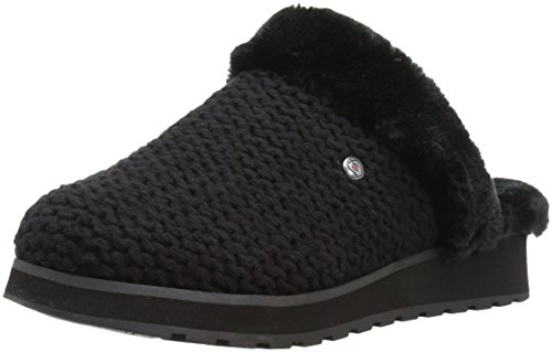 Bobs Van Skechers Womens Keepsakes High-nubby Knit Clog Zwart / Zwart