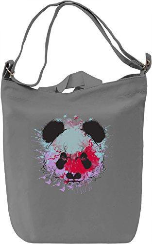 Splash Panda Borsa Giornaliera Canvas Canvas Day Bag| 100% Premium Cotton Canvas| DTG Printing|